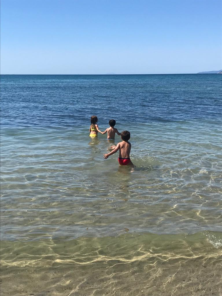 mare con bambini toscana