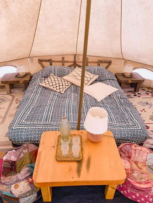 glamping toscana letti