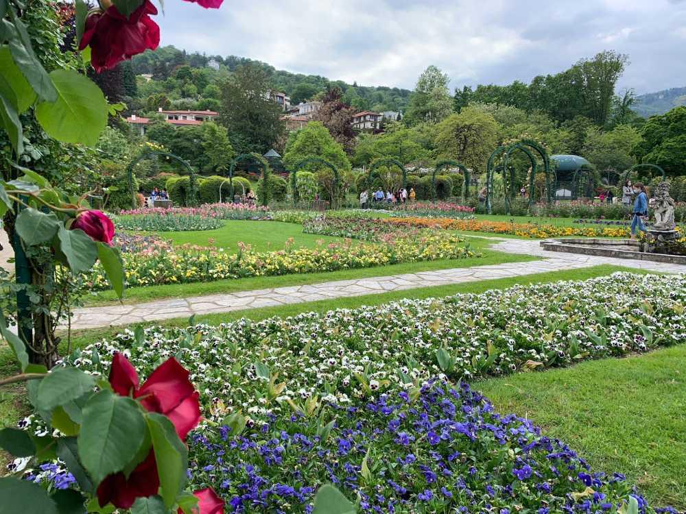 giardini del parco Pallavicino