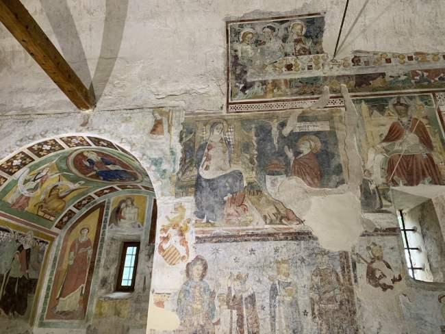 affreschi della pieve di San lorenzo