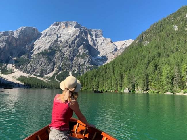 lago di braies barca a remi