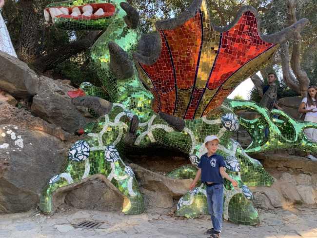 giardino dei tarocchi drago